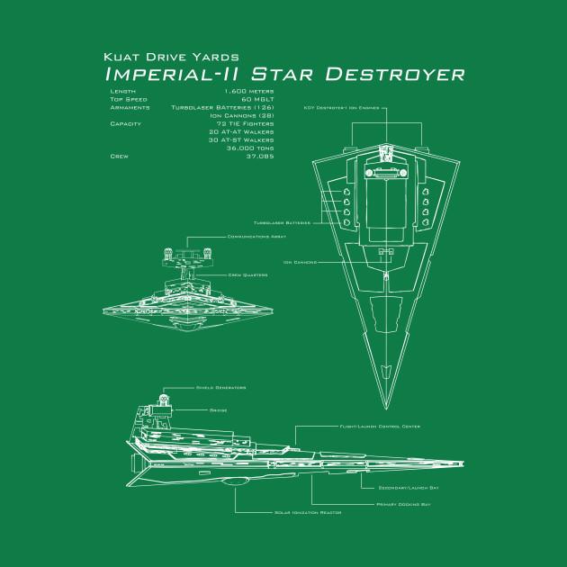 Imperial Star Destroyer Blueprint Star Wars T Shirt Teepublic
