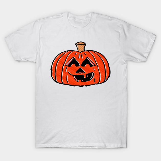 Retro Halloween Pumpkin 2 - Jackolantern - T-Shirt   TeePublic