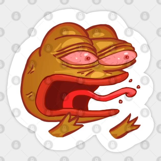 Reeee Pepe Ree Sticker Teepublic Uk