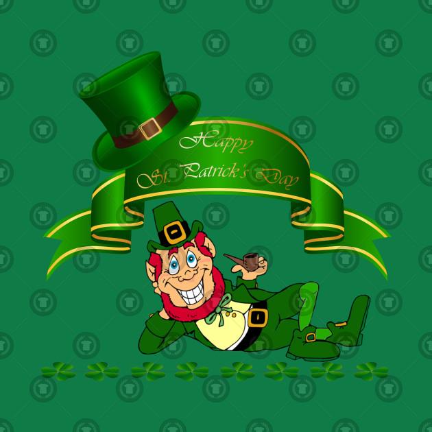 Saint Patricks Day Leprechaun T Shirt for proud Irish Shamrocks
