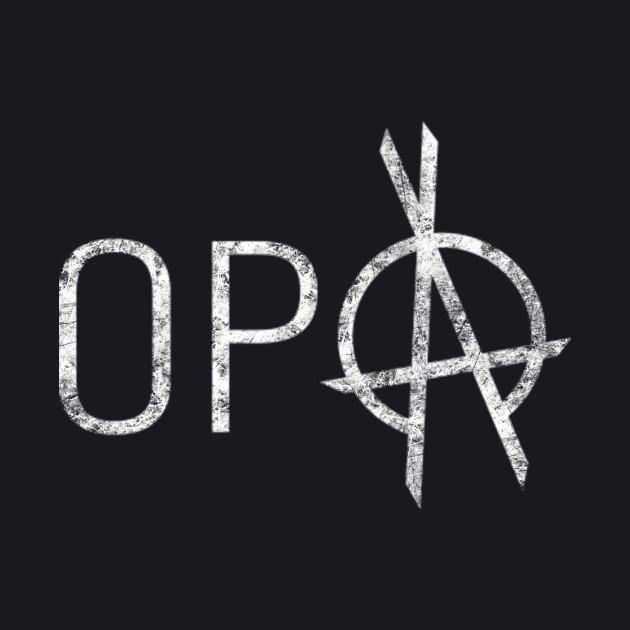 The Expanse - OPA Logo - White Dirty