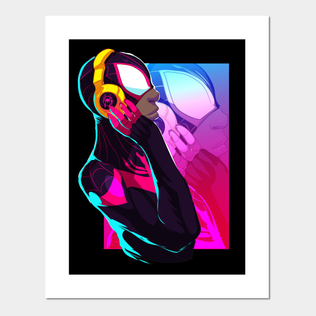 a1b333f62c8 Miles Morales Chillaxin - Spiderman Miles Morales - Posters and Art ...