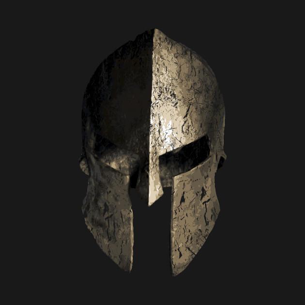 spartan sparta warrior helmet spartan t shirt teepublic