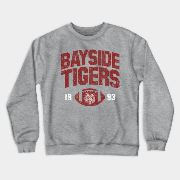 Zack Morris Bayside Tigers Crew Neck Sweatshirt Saved By the Bell Costume
