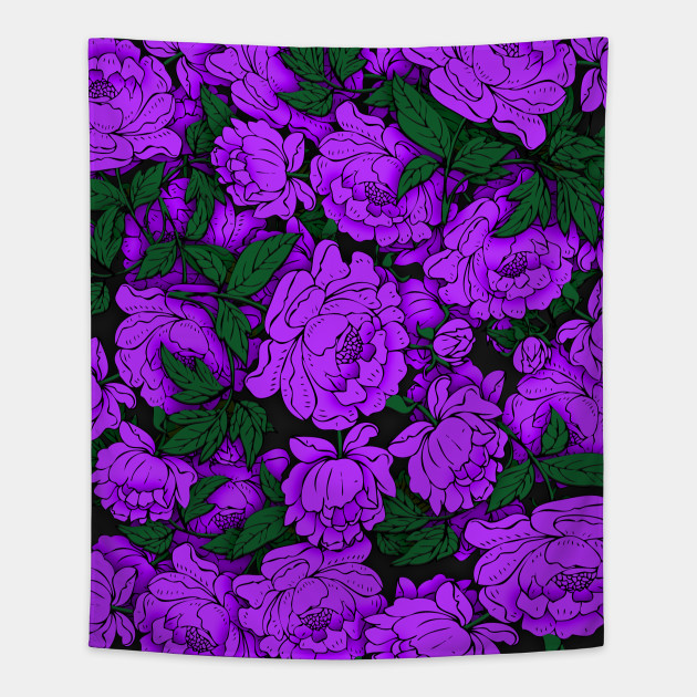 Purple peonies flowers tapestry teepublic 1723808 1 mightylinksfo