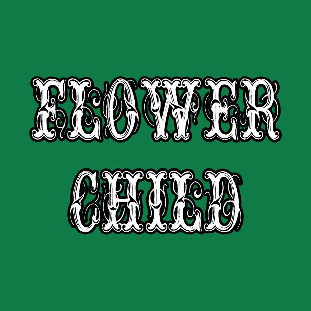 Flower Child Vintage Letters