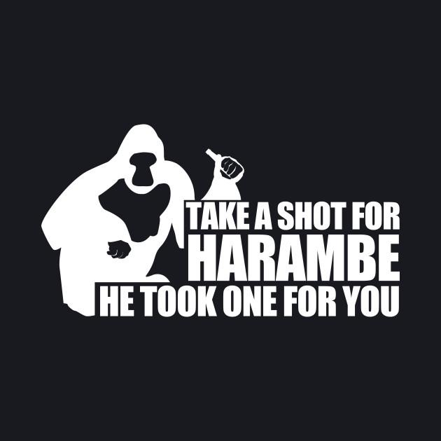 Take a Shot For Harambe White