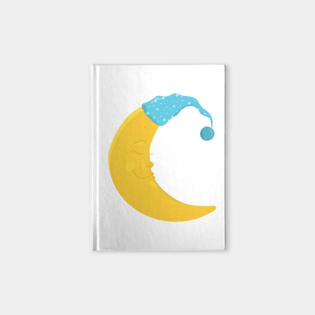 Yellow Moon With Blue Nightcap, Sleeping Moon