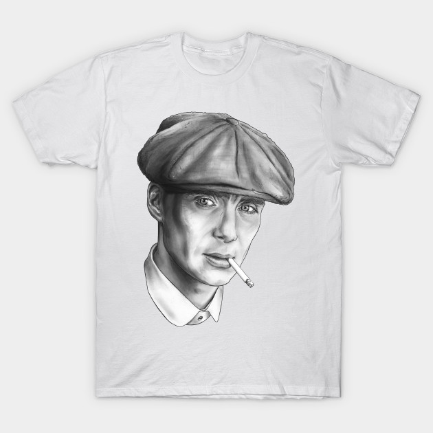 eb1556fd Peaky Blinders - Tommy Shelby - Black and White Sketch - Peaky ...
