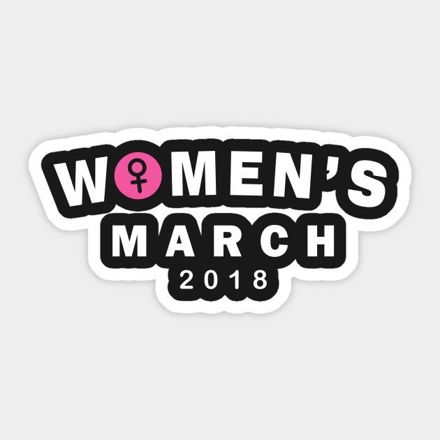 Womens March 2018 Gender Symbol Womens March 2018 Sticker