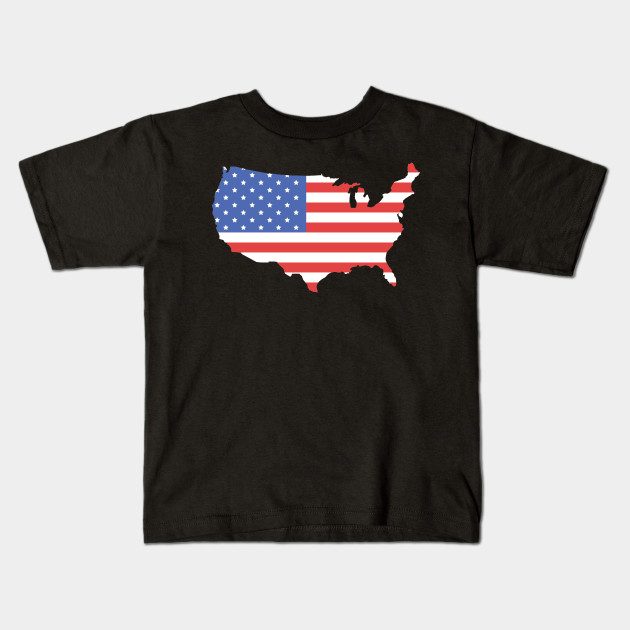 United States Of America Map American Flag