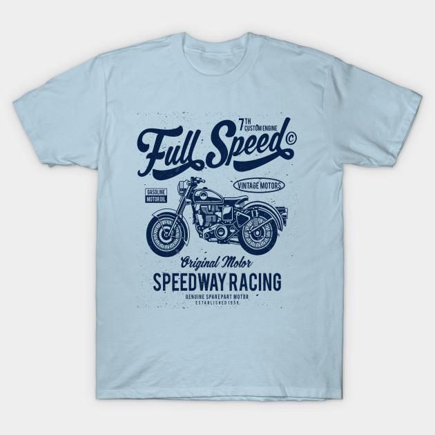 Motorcycle Full Speed Engine t-shirt