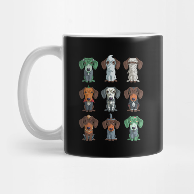 Cute Dachshund Halloween Funny Weiner for Halloween for Dog Lovers Mug