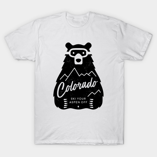 Colorado Ski Bear T-Shirt-TOZ