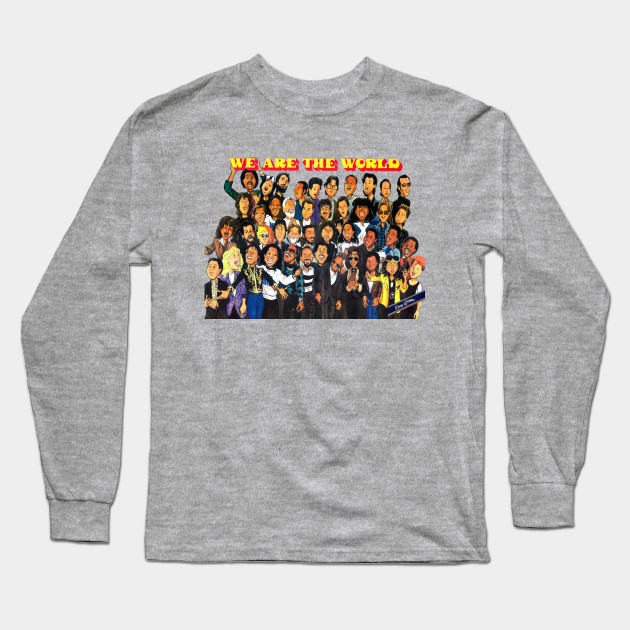 457de212 We Are The World (Cartoon) - We Are The World - Long Sleeve T-Shirt ...