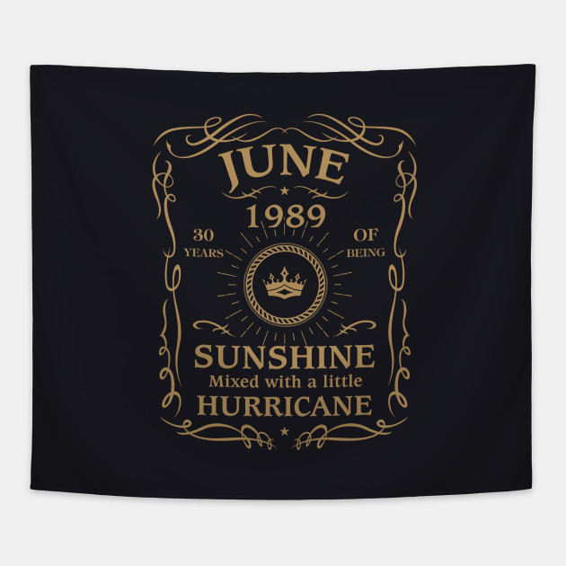 June 1989 Sunshine Mixed With A Little Hurricane Tapestry