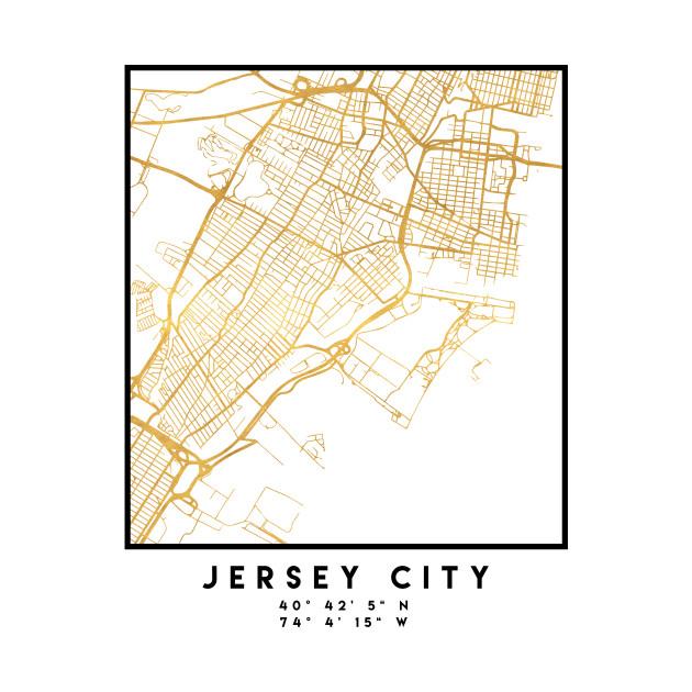JERSEY CITY NEW JERSEY STREET MAP ART
