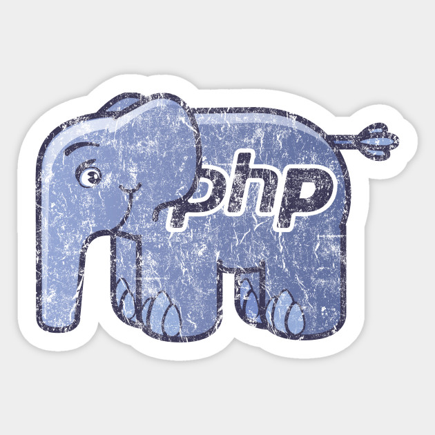 5caaaca324fe0 Vintage PHP Elephant Logo - Php - Sticker