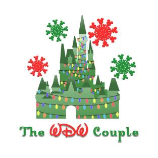 the wdw couple christmas logo t shirt - Disney Christmas Shirts