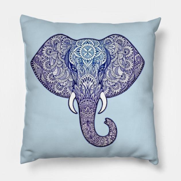 Henna Elephant Art Diwali Festival Pillow Teepublic