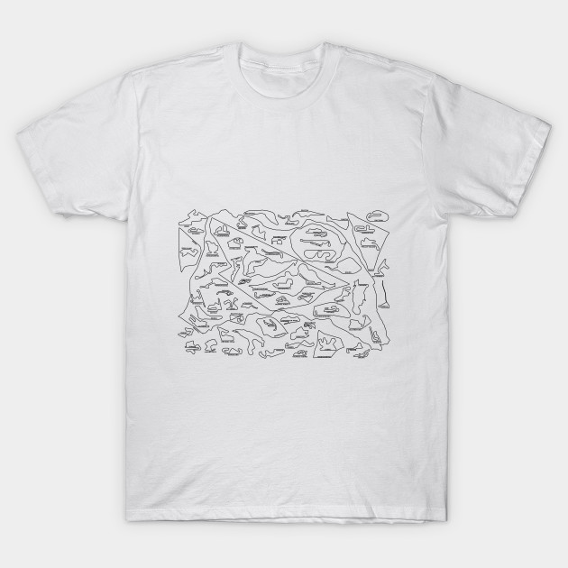 f9012df0 Every MotoGP Circuit to Scale with Names - Moto Gp - T-Shirt | TeePublic