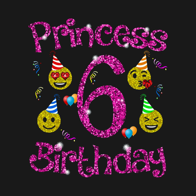 Emoji Birthday Girl Party Shirt Princess 6th Y3x