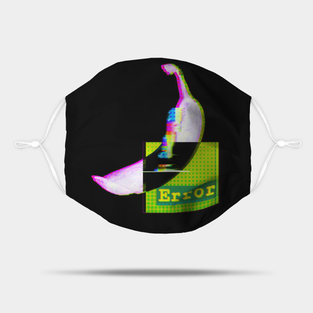 ERROR - FUN holographic BANANA glitch art 404 brain not found v2