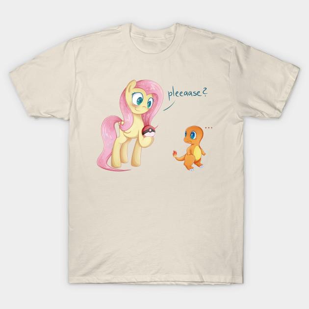 fluttershy the pokemon trainer my little pony t shirt teepublic