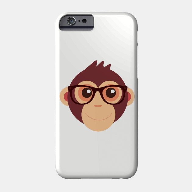 0a3511cdfd5509 Hipster Chimp T-Shirt - Adorable Monkey - Phone Case | TeePublic