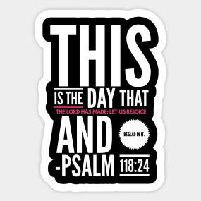Bible Verse Of The Day Stickers | TeePublic