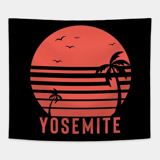 d824022a6 Yosemite Tshirt - Outdoor Shirt - Camping Shirt - Vintage - Summer Shirt -  Vintage - Graphic Tees - Adventure - Explore - Retro Shirt Tapestry