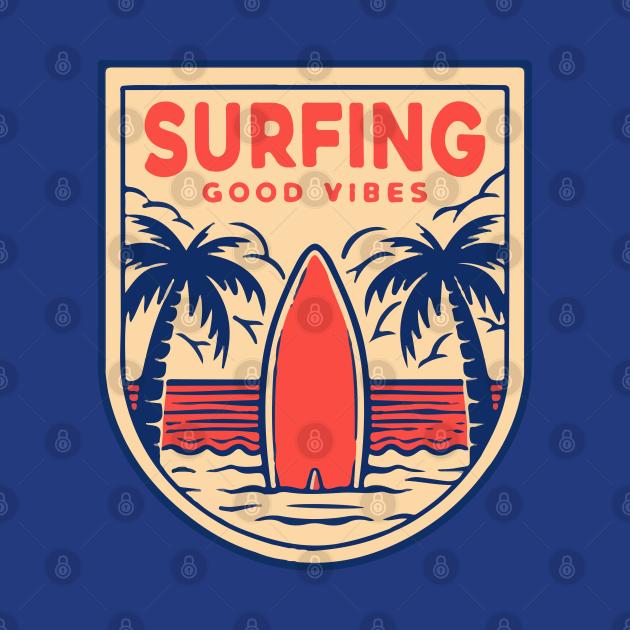 Surfing badge