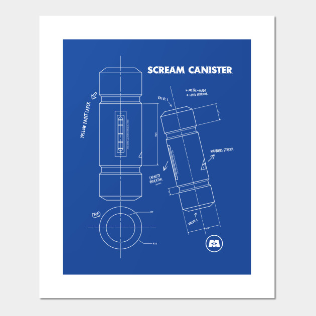 Scream Canister Blue print - Monsters Inc - Posters and Art Prints ...