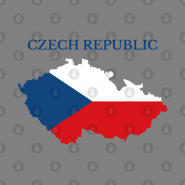 Czech Republic, Czechia Map Flag