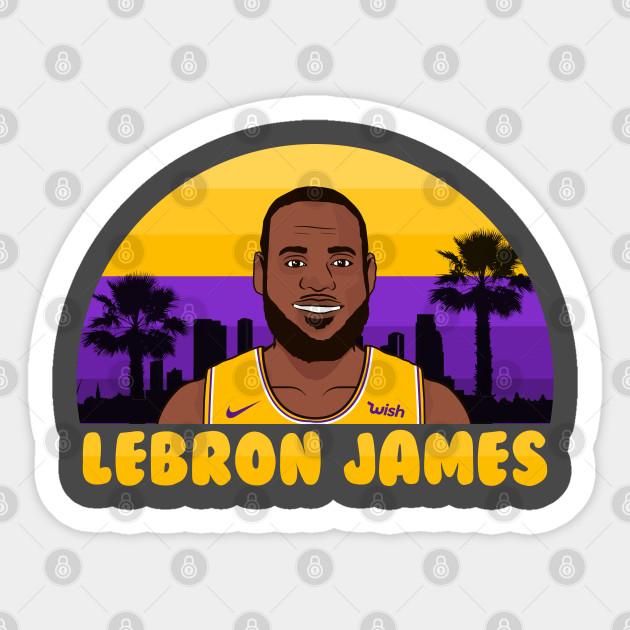 Lebron James Lakers Vector Art Lebron James Sticker Teepublic Au