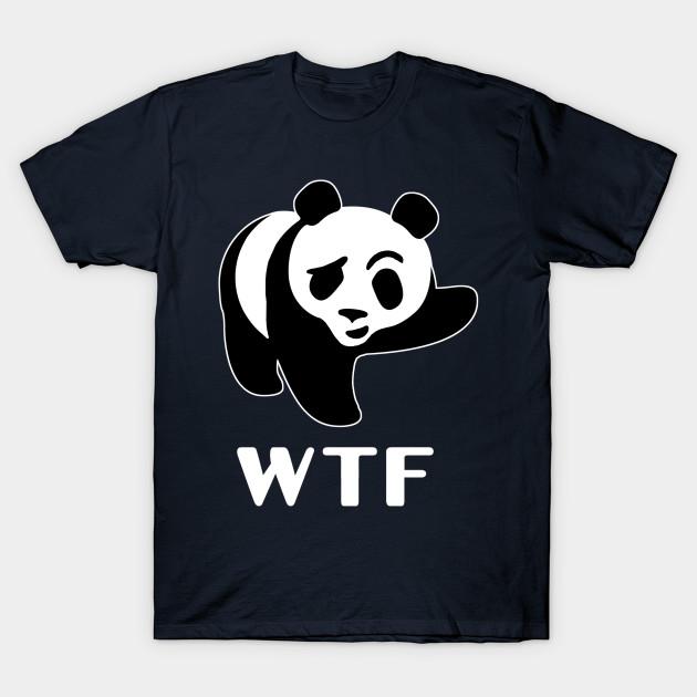 Wtf Panda Wwf Animal Symbol Logo Wwf T Shirt Teepublic