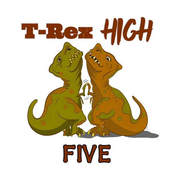 T-Rex High Five - Text