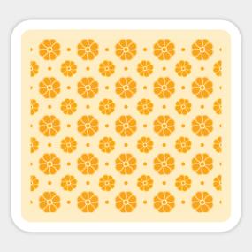 Pretty Simple Flowers Stickers Teepublic