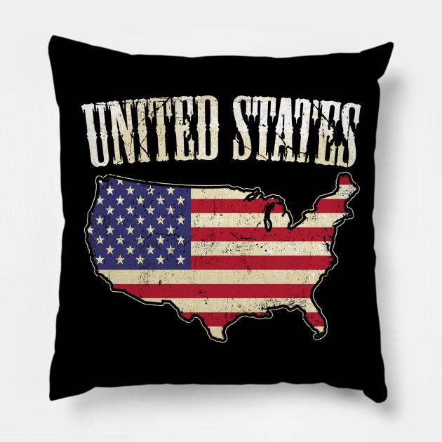 Usa Map Flag American Flag Pillow Teepublic