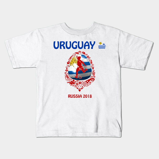 7d09e7eab3f Uruguay Uruguayan soccer team at the World Cup FIFA Russia 2018 Kids T-Shirt
