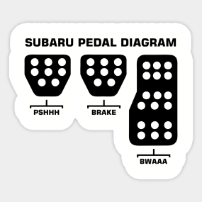subaru pedal diagram Sticker