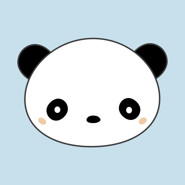Kawaii Cute Panda Face