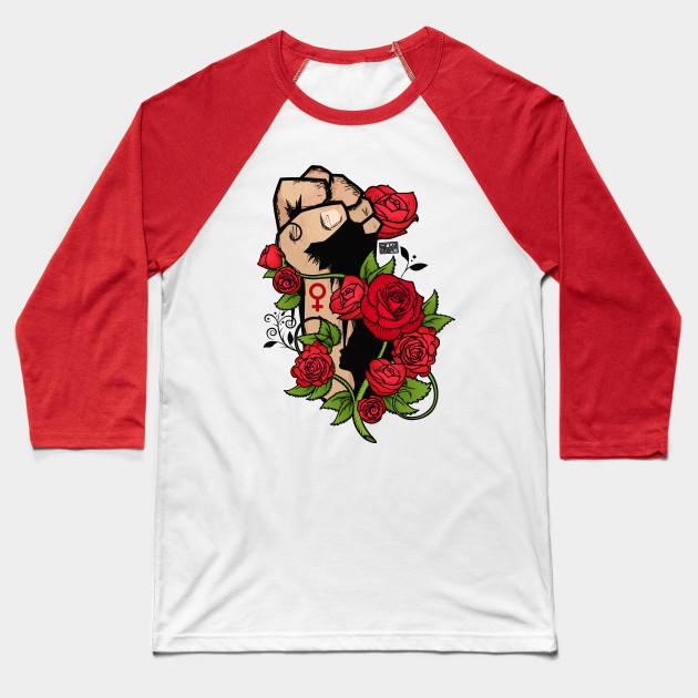 bcfad0a0c6a9 Ornamental Rose Resist Hands Up Fist Women s Rights - Rose Resist ...