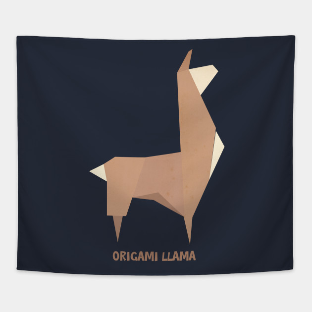 Origami Llama Llama Tapestry Teepublic
