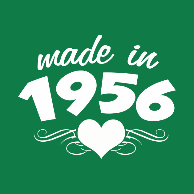 60th Birthday Gifts For Women Made In 1956 Heart Design 60 Shirt