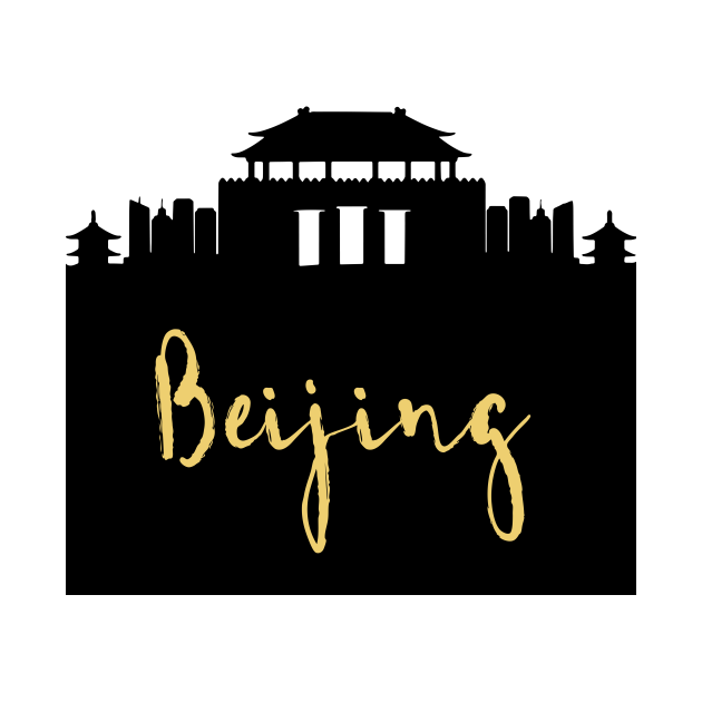 BEIJING CHINA DESIGNER SILHOUETTE SKYLINE ART