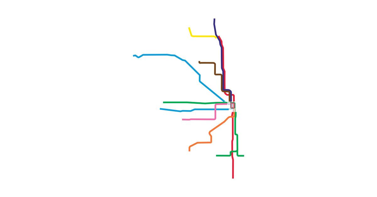 Cta Subway Map Chicago.Cta By Gdunc