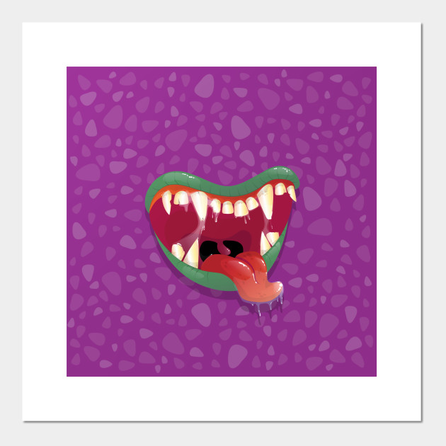 Scary Monsters Mouth Mask Funny Mask Posters And Art Prints Teepublic