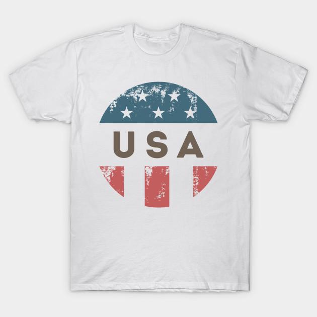 c9bc74c0e4f Vintage American Flag Badge - American Flag - T-Shirt