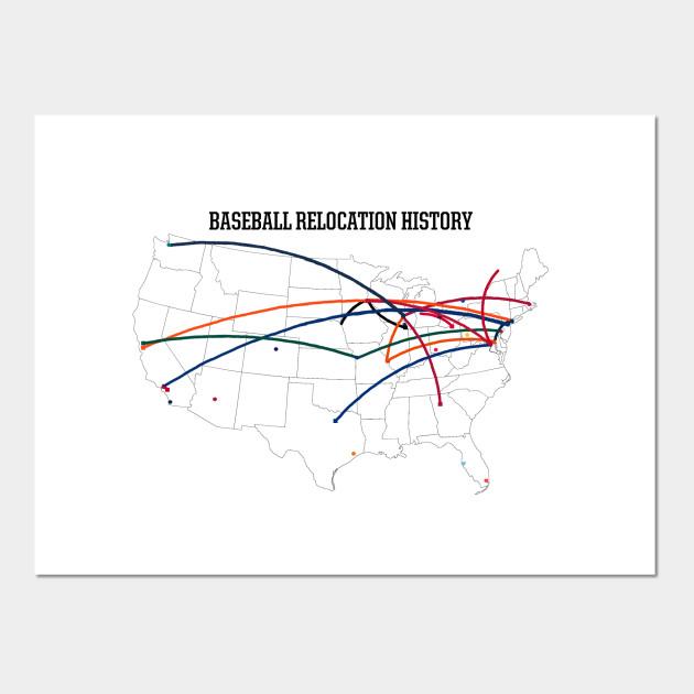 MLB Relocation Map